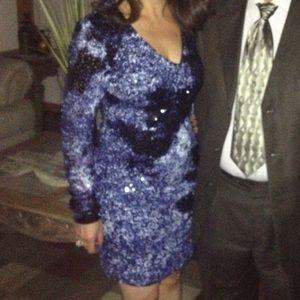 Blue sequence dress